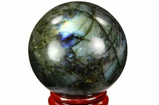 "1.8"" Flashy, Polished Labradorite Sphere - Great Color Play For Sale, #105734"