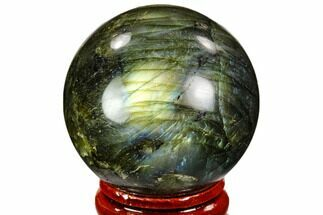 "1.6"" Flashy, Polished Labradorite Sphere - Madagascar For Sale, #105776"