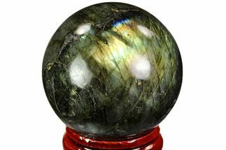 "Buy 1.5"" Flashy, Polished Labradorite Sphere - Great Color Play - #105784"