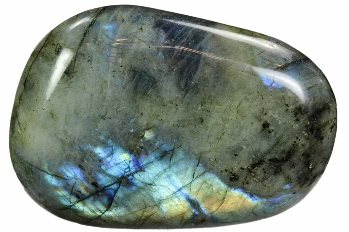 "4"" Flashy, Polished Labradorite Pebble - Madagascar"