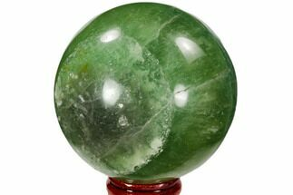 "2.7"" Polished Green Fluorite Sphere - Madagascar For Sale, #106295"