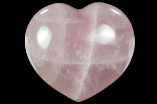 "Buy 3.4"" Polished Rose Quartz Heart - Madagascar - #63028"