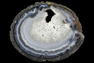 "6.4"" Polished Brazilian Agate Slice For Sale, #107375"