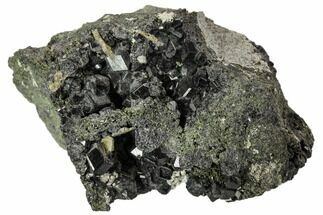 "2.6"" Black Andradite (Melanite) Garnet Cluster - Morocco For Sale, #107906"