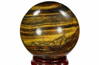 "3.35"" Polished Tiger's Eye Sphere - South Africa For Sale, #107933"