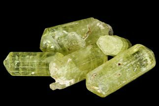 "Buy Bag Of Five Yellow Apatite Crystals (.5"" - 1"") - Morocco - #108364"