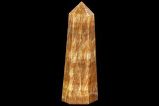 "9.2"" Polished, Orange Calcite Obelisk - Madagascar For Sale, #108464"