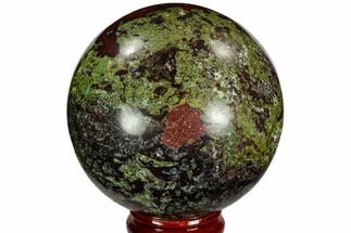 "2.35"" Polished Dragon's Blood Jasper Sphere - South Africa For Sale, #108563"