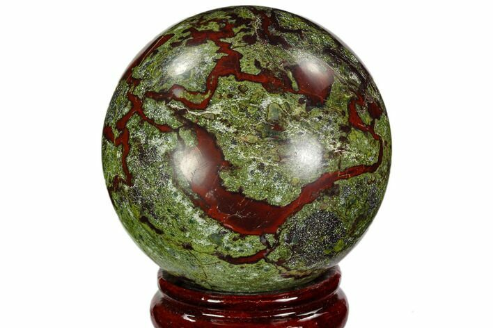 "3.05"" Polished Dragon's Blood Jasper Sphere - South Africa"