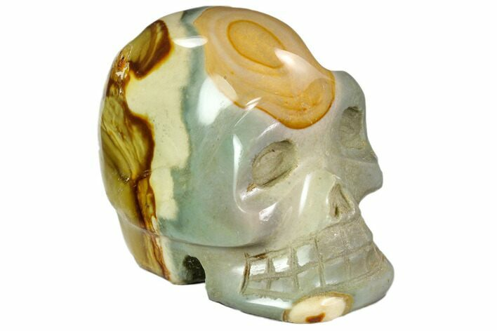"4"" Polished, Polychrome Jasper Skull - Madagascar"