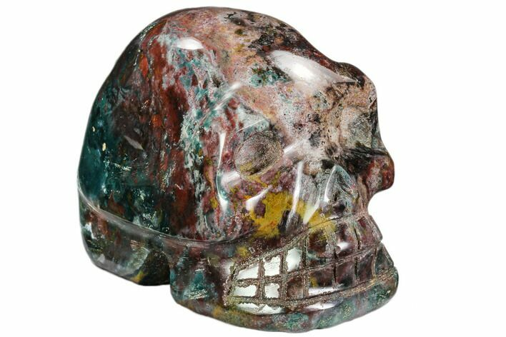 "4.5"" Polished Colorful Jasper Skull - Madagascar"