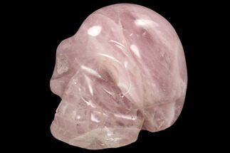 "4.8"" Polished Rose Quartz Crystal Skull - Madagascar For Sale, #108353"