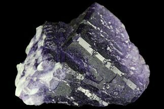 "1.5"" Purple Cubic Fluorite Crystal Cluster - Morocco For Sale, #108704"