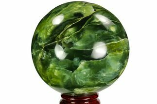 "3.7"" Polished Serpentine Sphere - Pakistan For Sale, #109700"