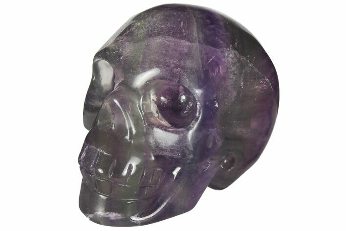 "2"" Colorful, Banded (Rainbow) Fluorite Skull"