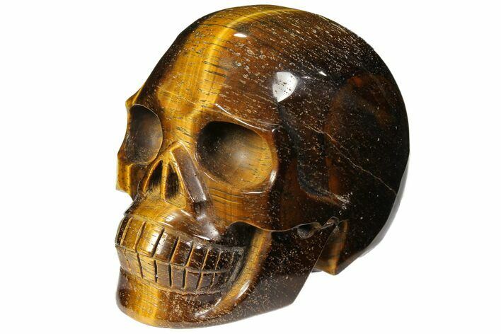 "3.8"" Polished Tiger's Eye Skull - Africa"