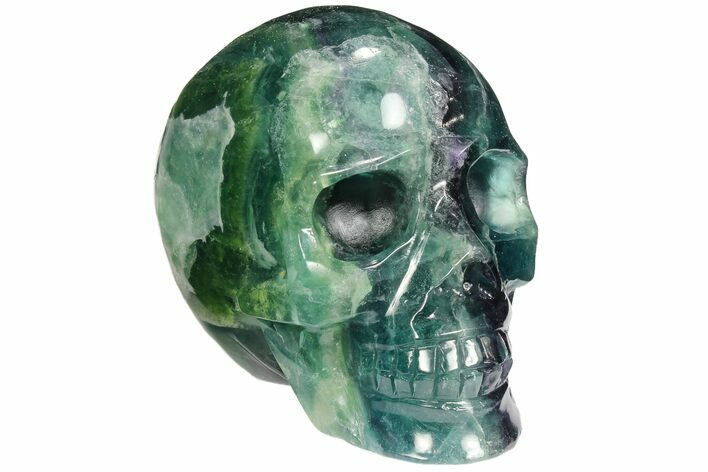 "3.65"" Colorful, Banded (Rainbow) Fluorite Skull"