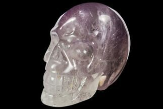 "3.1"" Carved Amethyst Crystal Skull For Sale, #111716"