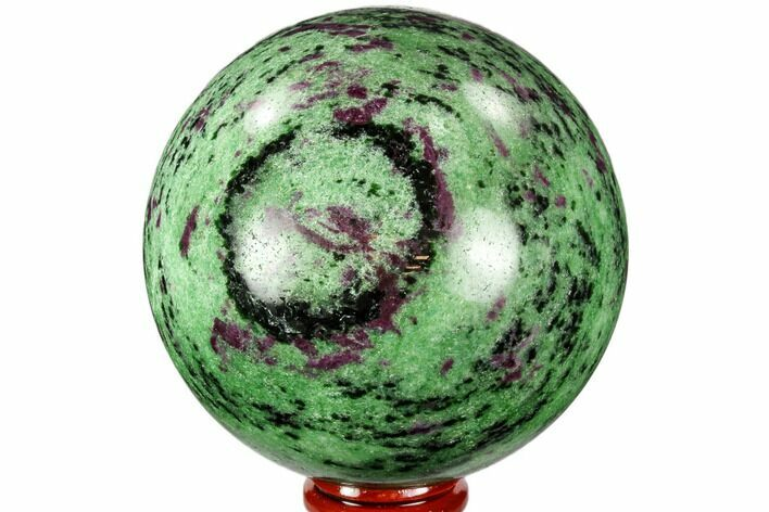 "3.2"" Polished Ruby Zoisite Sphere - Tanzania"