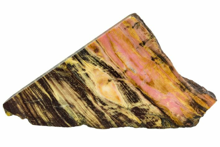 "4"" Polished Rhodonite Slab - Northern B.C."