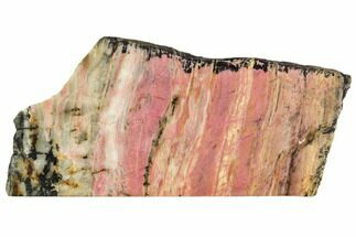 Rhodonite with Manganese Oxide - Fossils For Sale - #112719