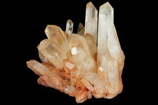 "5.9"" Tangerine Quartz Crystal Cluster - Madagascar For Sale, #112781"