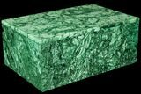 "Huge, 11.7"" Wide Malachite Jewelry Box - Stunning - #113044-2"