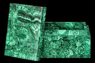 "Buy 4.5"" Wide Malachite Jewelry Box - Congo - #113455"