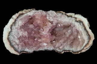 "2.4"" Pink Amethyst Geode Section - Argentina For Sale, #113312"