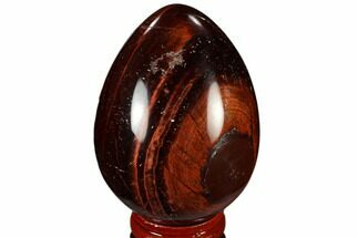 "2.7"" Polished Red Tiger's Eye Egg - South Africa For Sale, #115439"