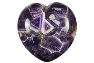 "Buy 1.6"" Polished Chevron Amethyst Heart - #116272"