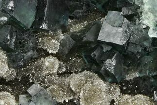 "3.7"" Green Cubic Fluorite on Quartz - China For Sale, #114026"