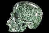 "6.1"" Realistic, Polished Hamine Jade Skull - India - #116393-3"