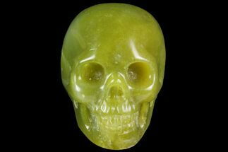 "2"" Realistic, Polished Jade (Nephrite) Skull For Sale, #116441"