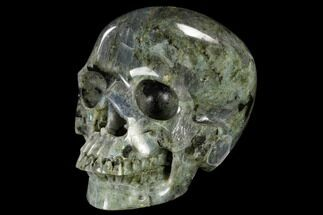 "Buy 7.2"" Realistic, Polished Labradorite Skull - Madagascar - #116335"