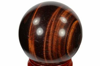 "1.6"" Polished Red Tiger's Eye Sphere - South Africa For Sale, #116087"