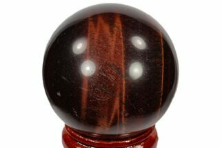 "Buy 1.6"" Polished Red Tiger's Eye Sphere - South Africa - #116095"