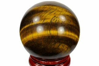 "1.6"" Polished Tiger's Eye Sphere - South Africa For Sale, #116069"