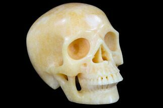 "5"" Realistic, Polished Yellow Aventurine Skull  For Sale, #116717"