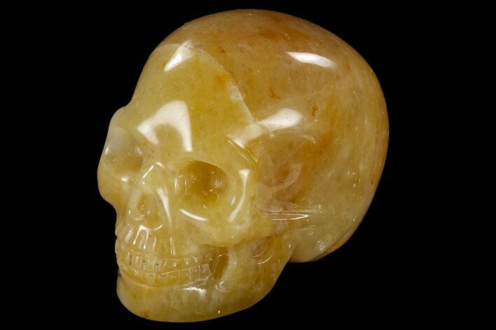 "1.9"" Realistic, Polished Yellow Aventurine Skull"