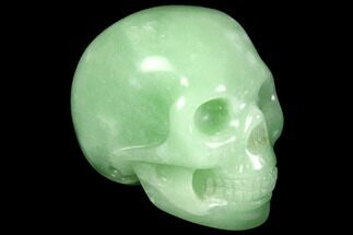 "1.8"" Realistic, Polished Jade (Nephrite) Skull For Sale, #116852"