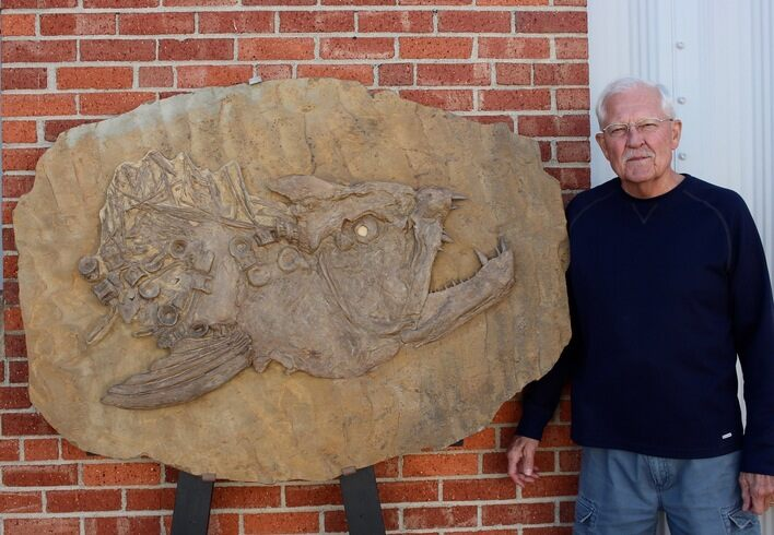 "42"" Fossil Xiphactinus Skull - Terror Of The Inland Seaway!"