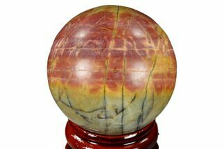 "1.55"" Polished Cherry Creek Jasper Sphere - China For Sale, #116213"