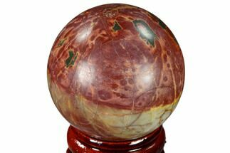"Buy 1.55"" Polished Cherry Creek Jasper Sphere - China - #116224"