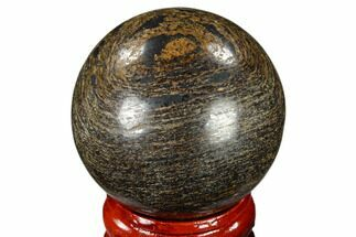 "1.6"" Polished Bronzite Sphere - Brazil For Sale, #115976"