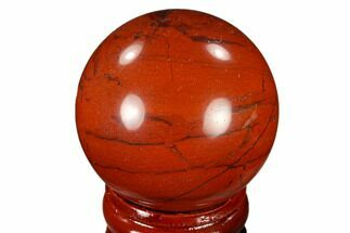 "1.5"" Polished Red Jasper Sphere - Brazil For Sale, #116024"
