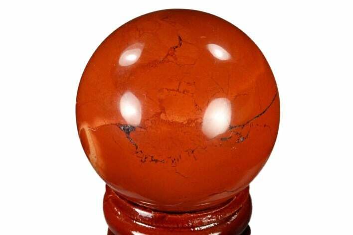 "1.6"" Polished Red Jasper Sphere - Brazil"