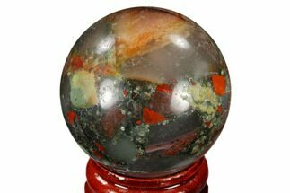 "Buy 1.55"" Polished Bloodstone (Heliotrope) Sphere - Africa - #116197"