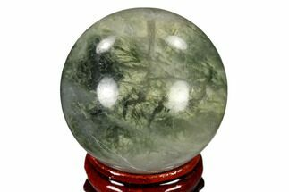 "1.6"" Polished Green Hair Jasper Sphere - China For Sale, #116243"