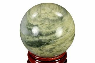 "1.6"" Polished Green Hair Jasper Sphere - China For Sale, #116246"
